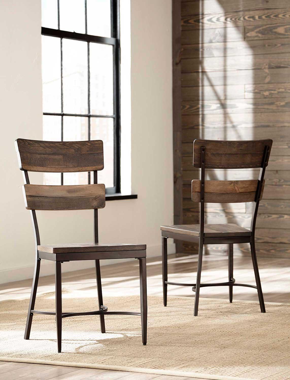 Hillsdale Jennings Dining Chair - Walnut Wood/Brown Metal