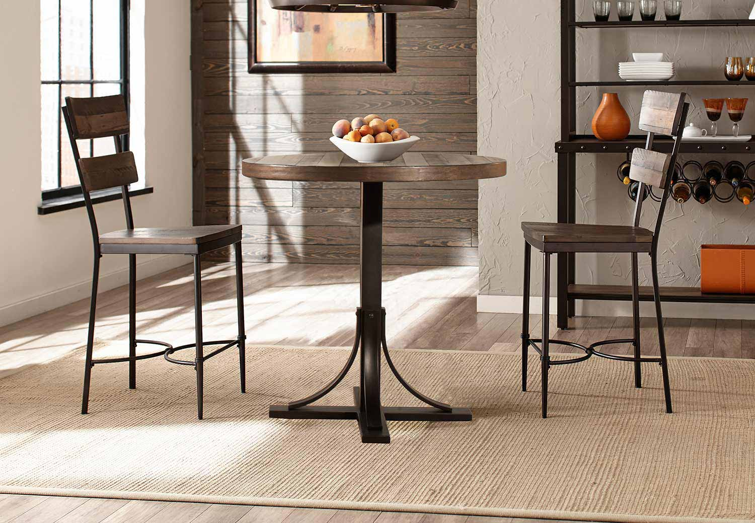 Hillsdale Jennings 3 Piece Counter Height Dining Set With Non Swivel Counter  Height Stools