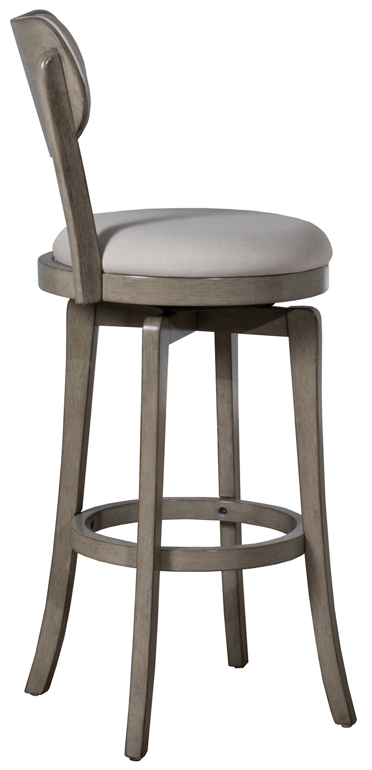 Hillsdale Sloan Swivel Counter Height Stool - Aged Gray