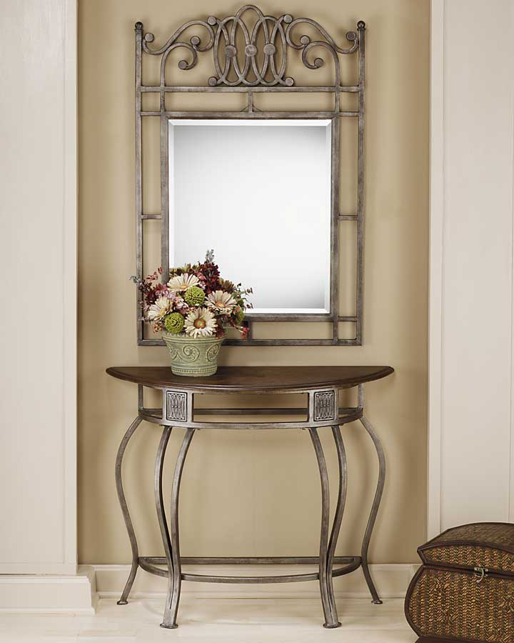 Hillsdale Montello Console Table with Wood Top