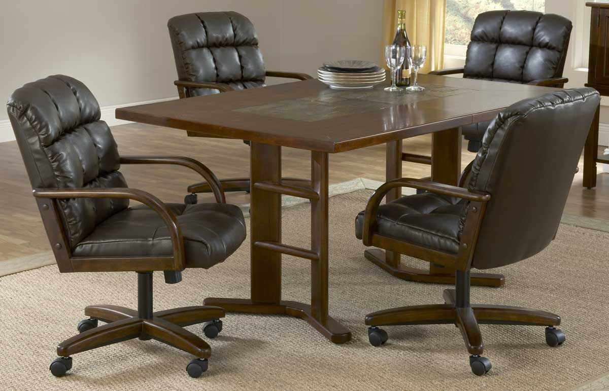 Hillsdale Frankfort 5-Piece Leather Dining Collection