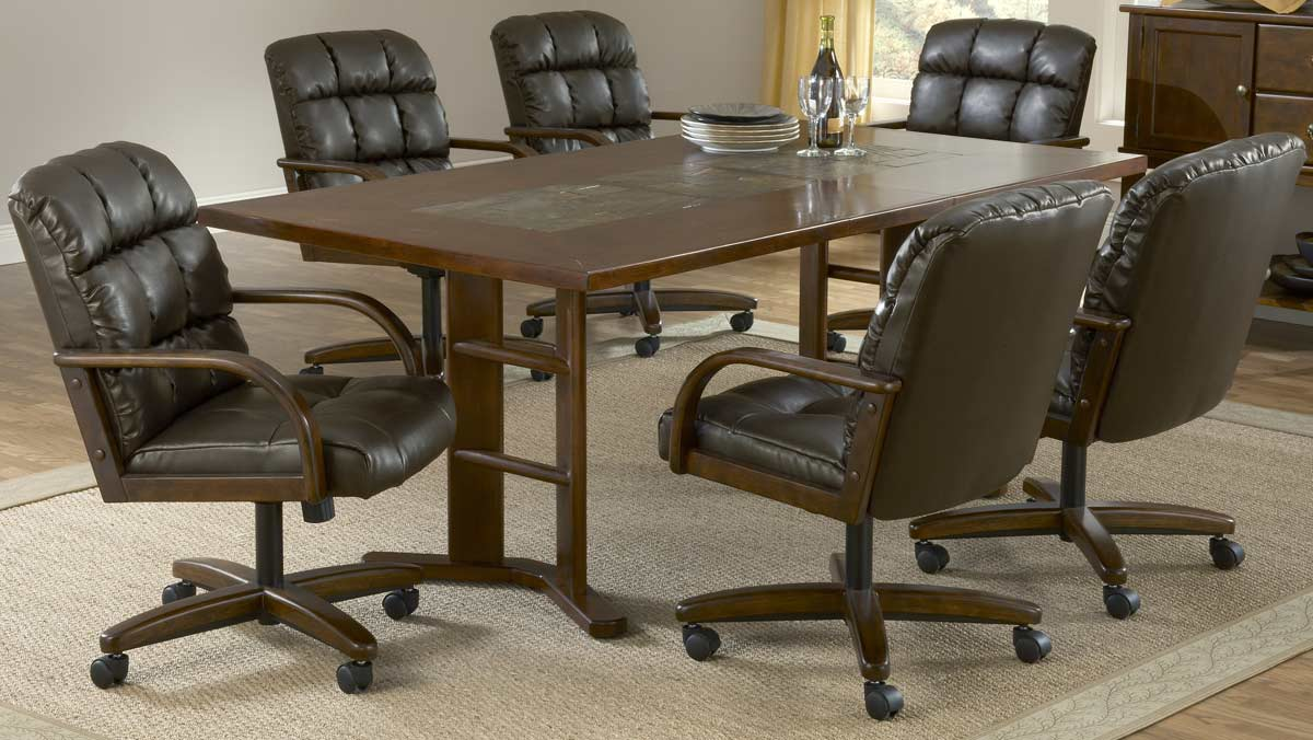 Hillsdale Frankfort 7-Piece Leather Dining Collection