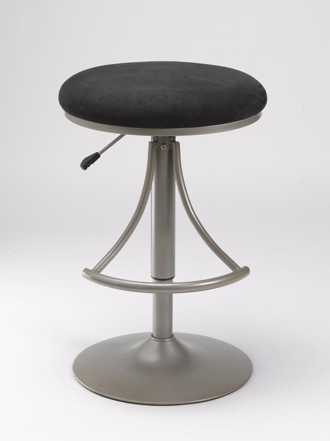 Hillsdale Venus Backless Swivel Bar Stool With Black Suede