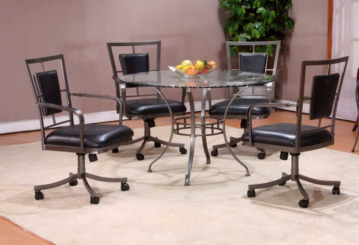 Hillsdale Auckland Glass Top Dining Collection