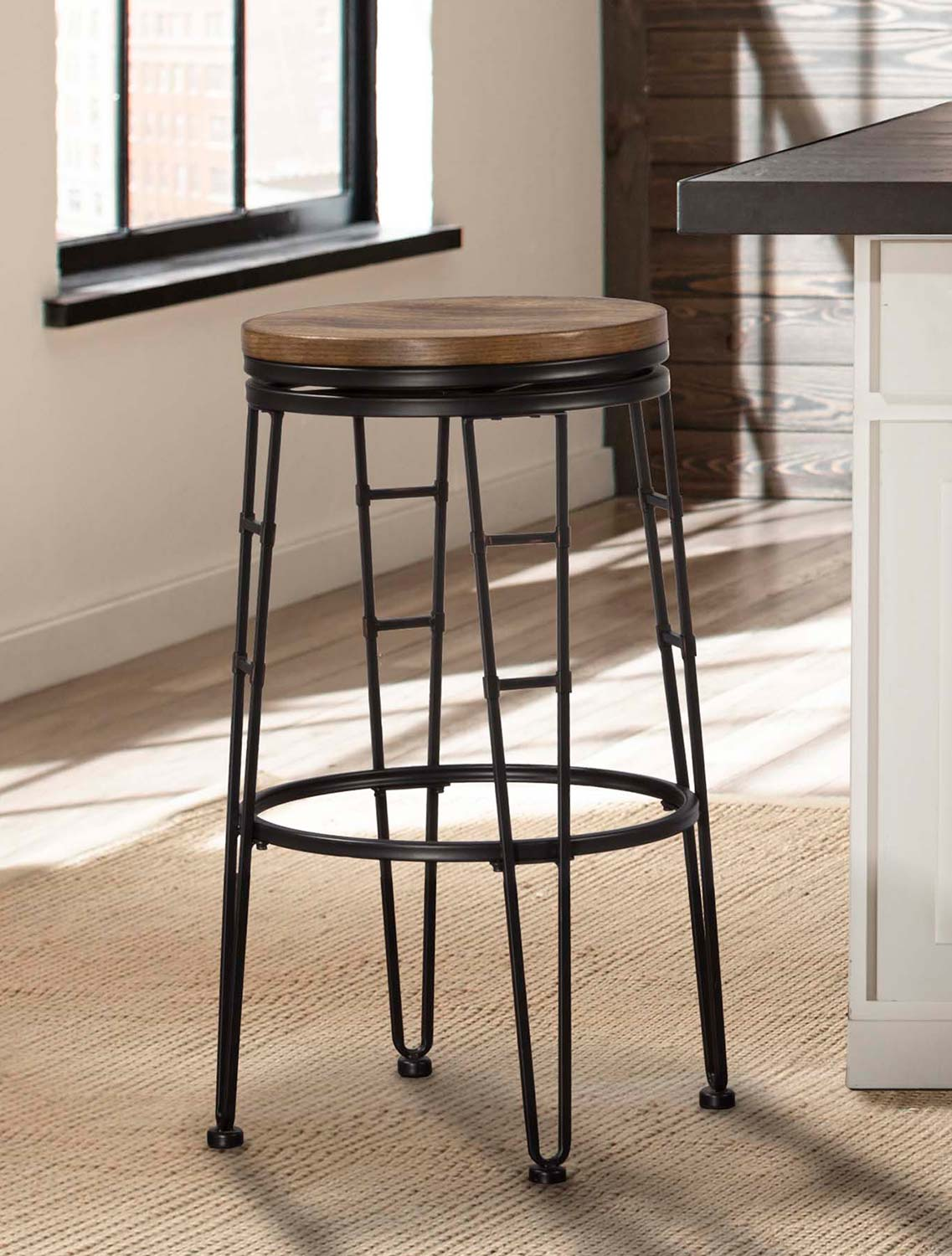 Hillsdale Northpark Backless Swivel Counter Stool - Chestnut