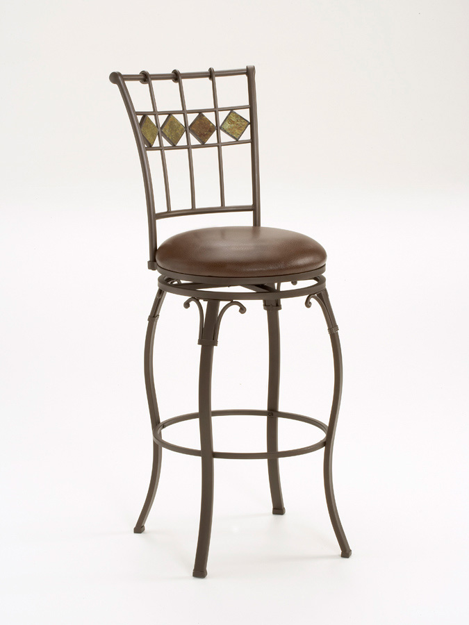 Hillsdale Lakeview Swivel Slate Bar Stool