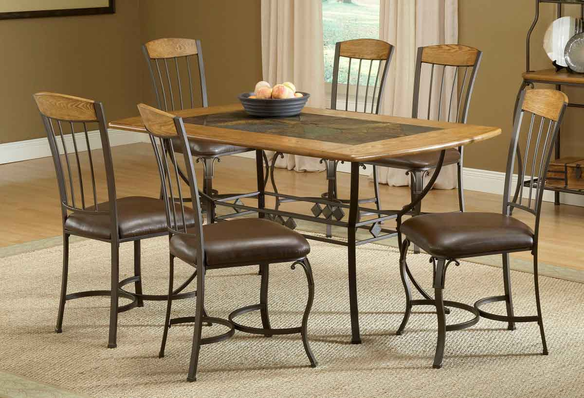 hillsdale lakeview rectangle dining set with wood chair 4264dtbrtcw7