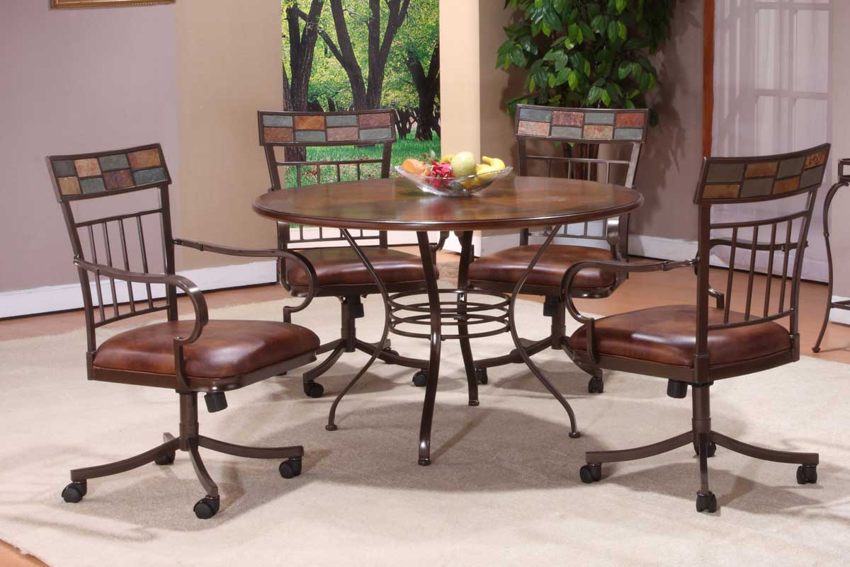 Hillsdale Montero Round Dining Set with Wood Top