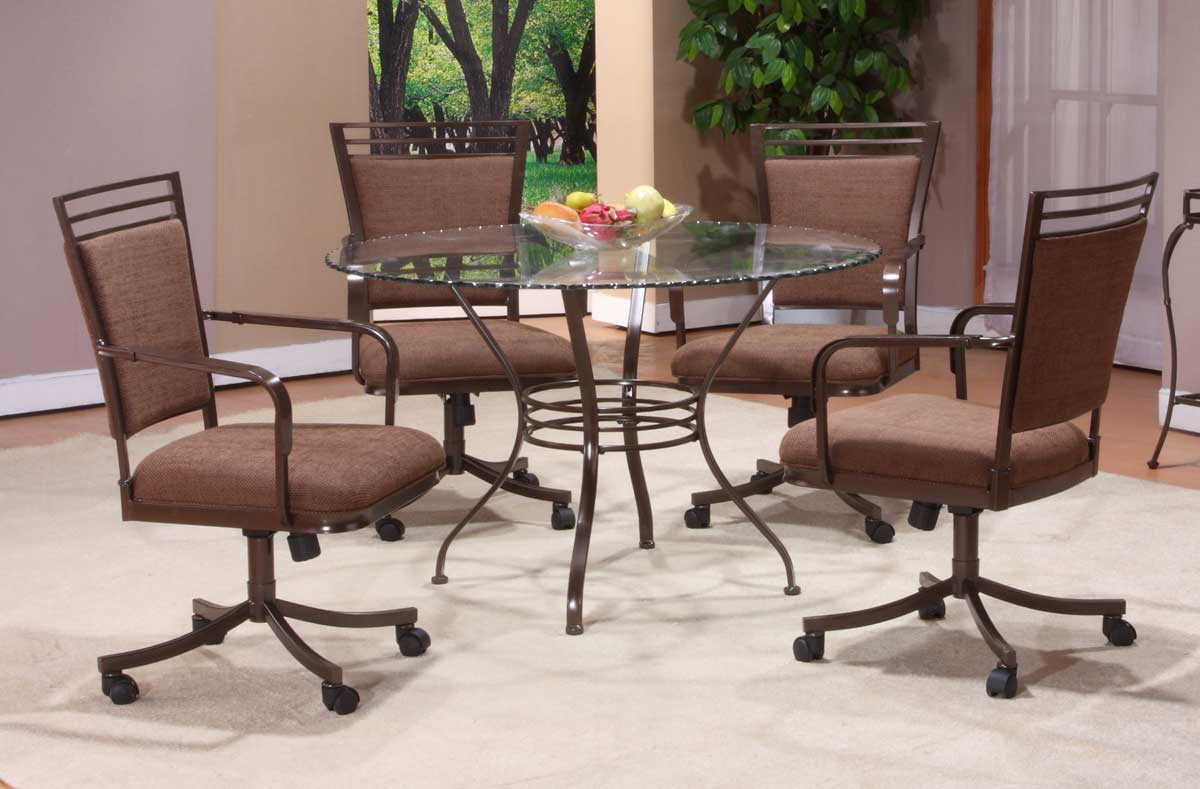 Hillsdale Trebec Round Dining Collection with Glass Top