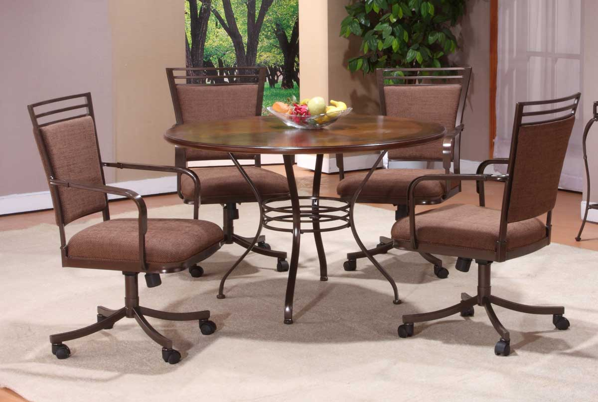 Hillsdale Trebec Round Dining Set with Wood Top