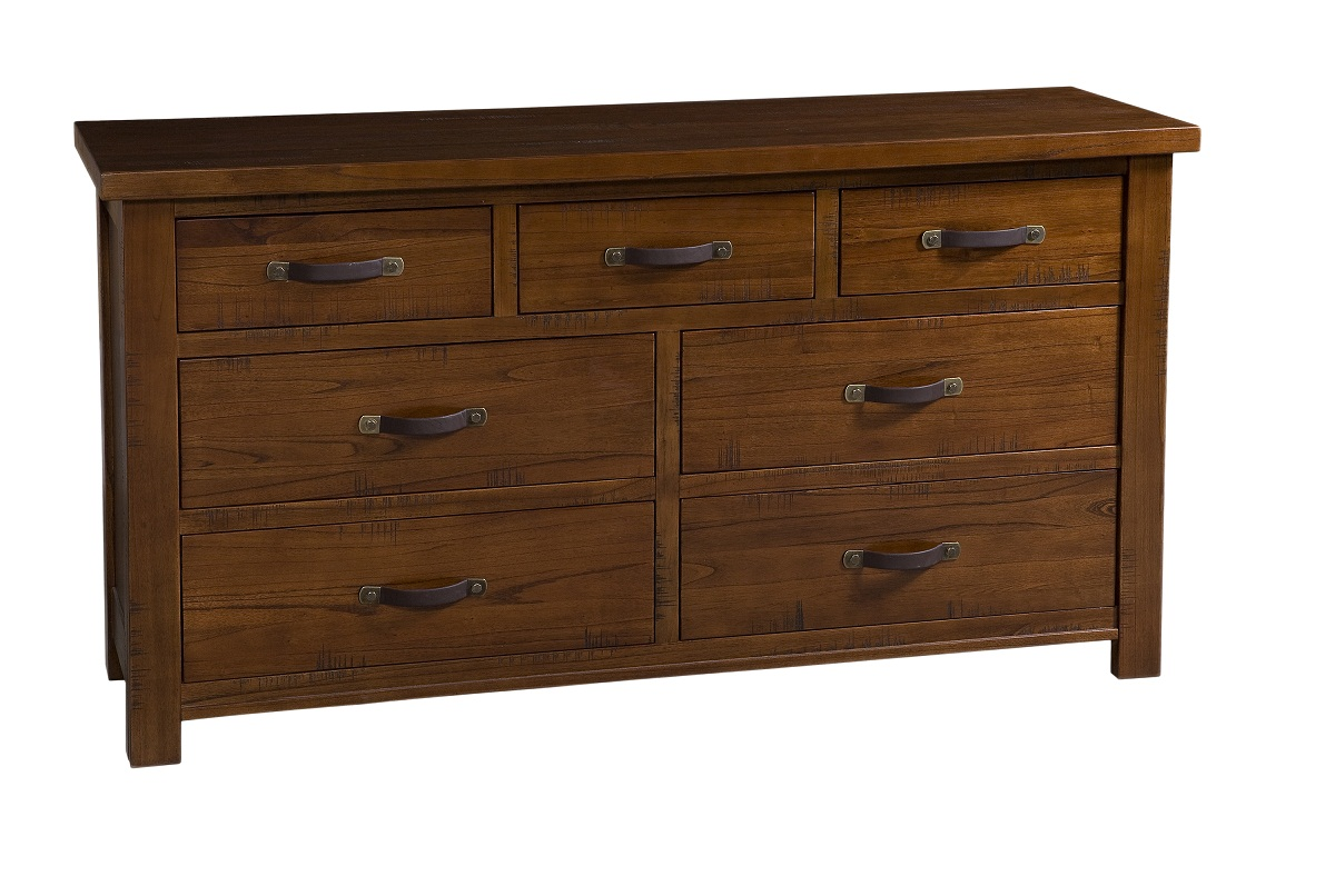 Hillsdale Outback Split 7 Drawer Dresser - Distressed Chestnut