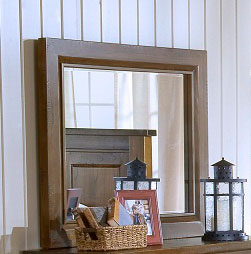 Hillsdale Outback Mirror - Distressed Chestnut