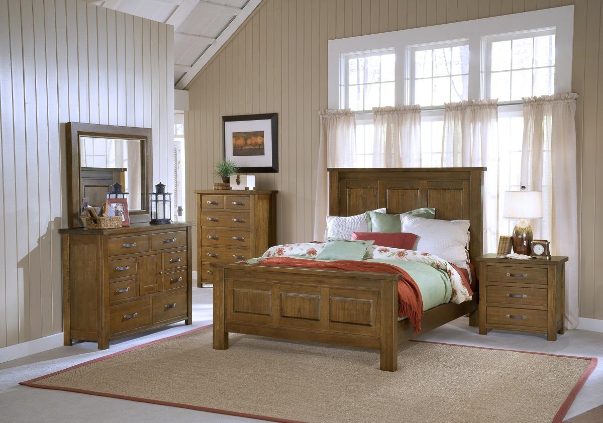 Hillsdale Outback Panel Bedroom Set - Distressed Chestnut