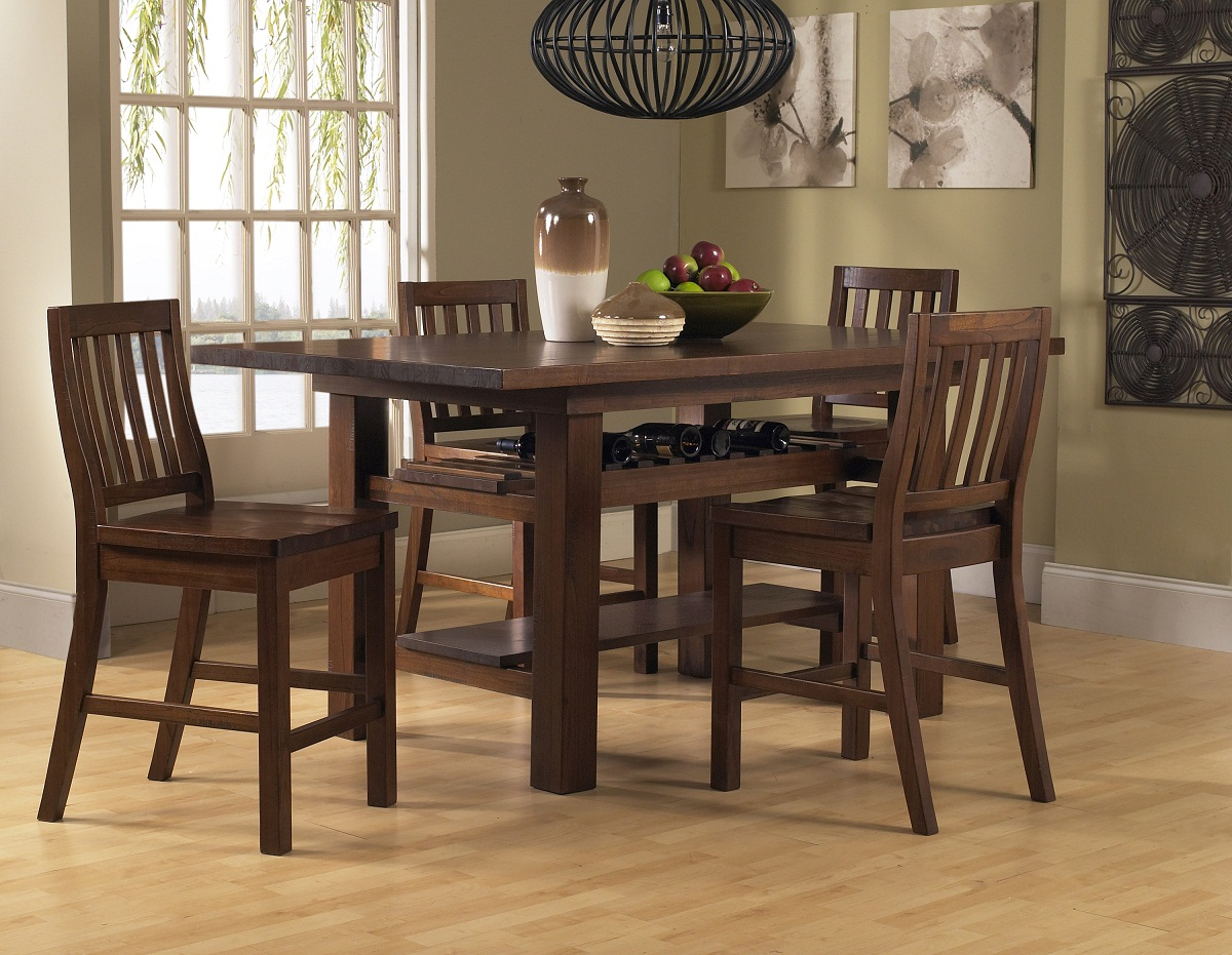 Hillsdale Outback 5-Piece Counter Height Dining Set - Distressed Chestnut