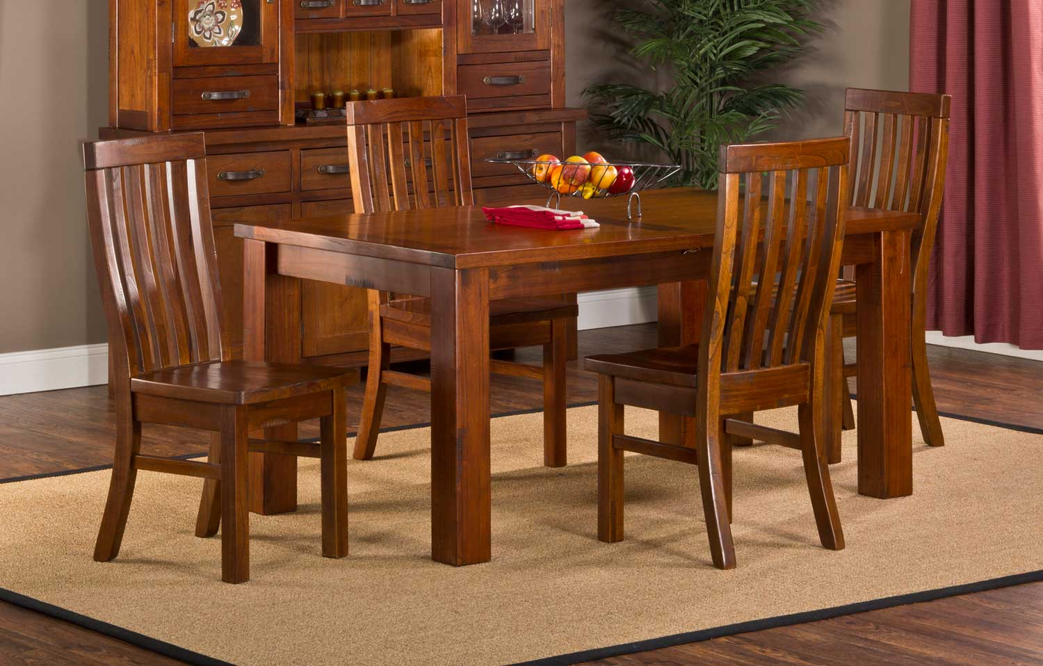 Hillsdale Outback 5-Piece Dining Set - Distressed Chestnut