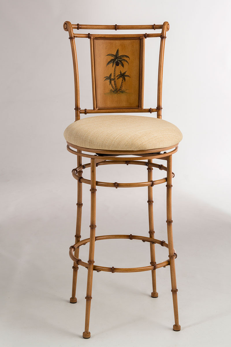 Hillsdale West Palm Metal Swivel Counter Stool