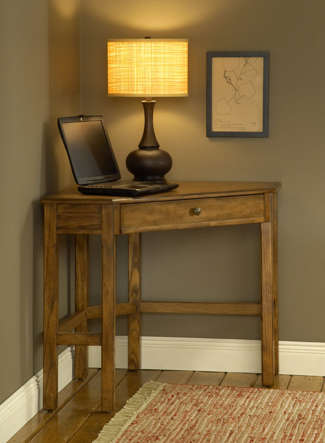 Hilale Solano Corner Desk Set Oak