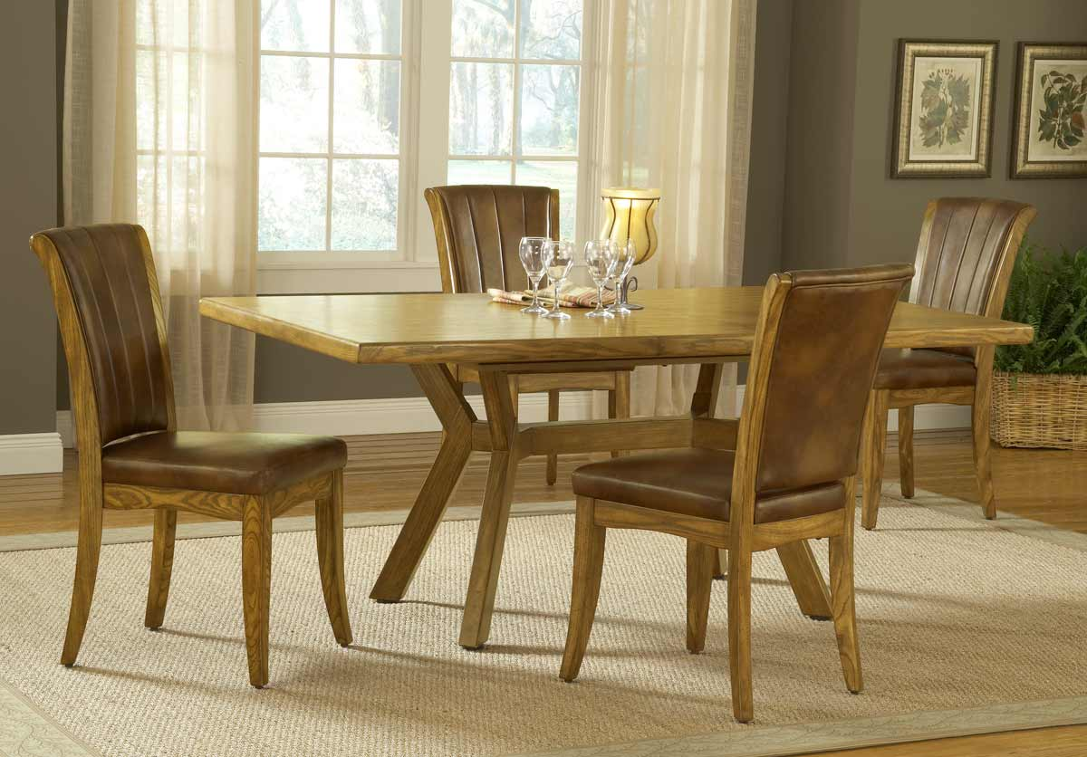 Hillsdale Grand Bay Rectangle Dining Set with Dining Chair - Oak
