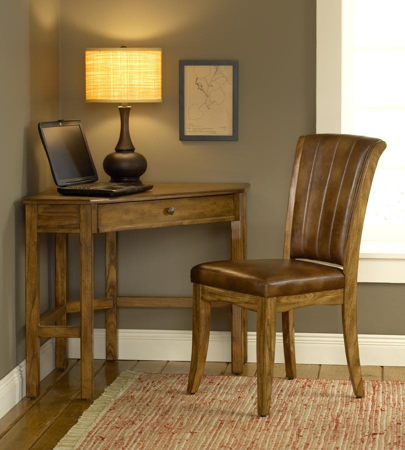 Charmant Hillsdale Solano Corner Desk Set   Oak