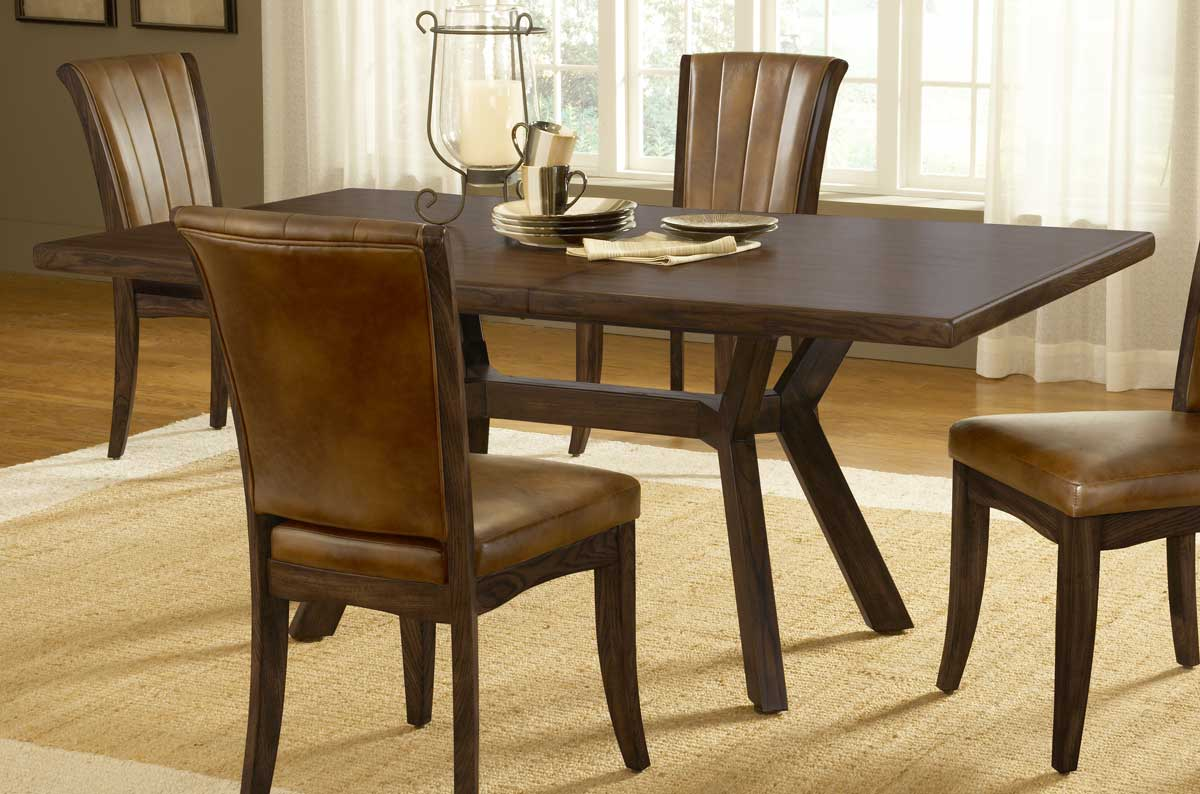 Hillsdale Grand Bay Rectangle Dining Set with Caster Chair - Cherry