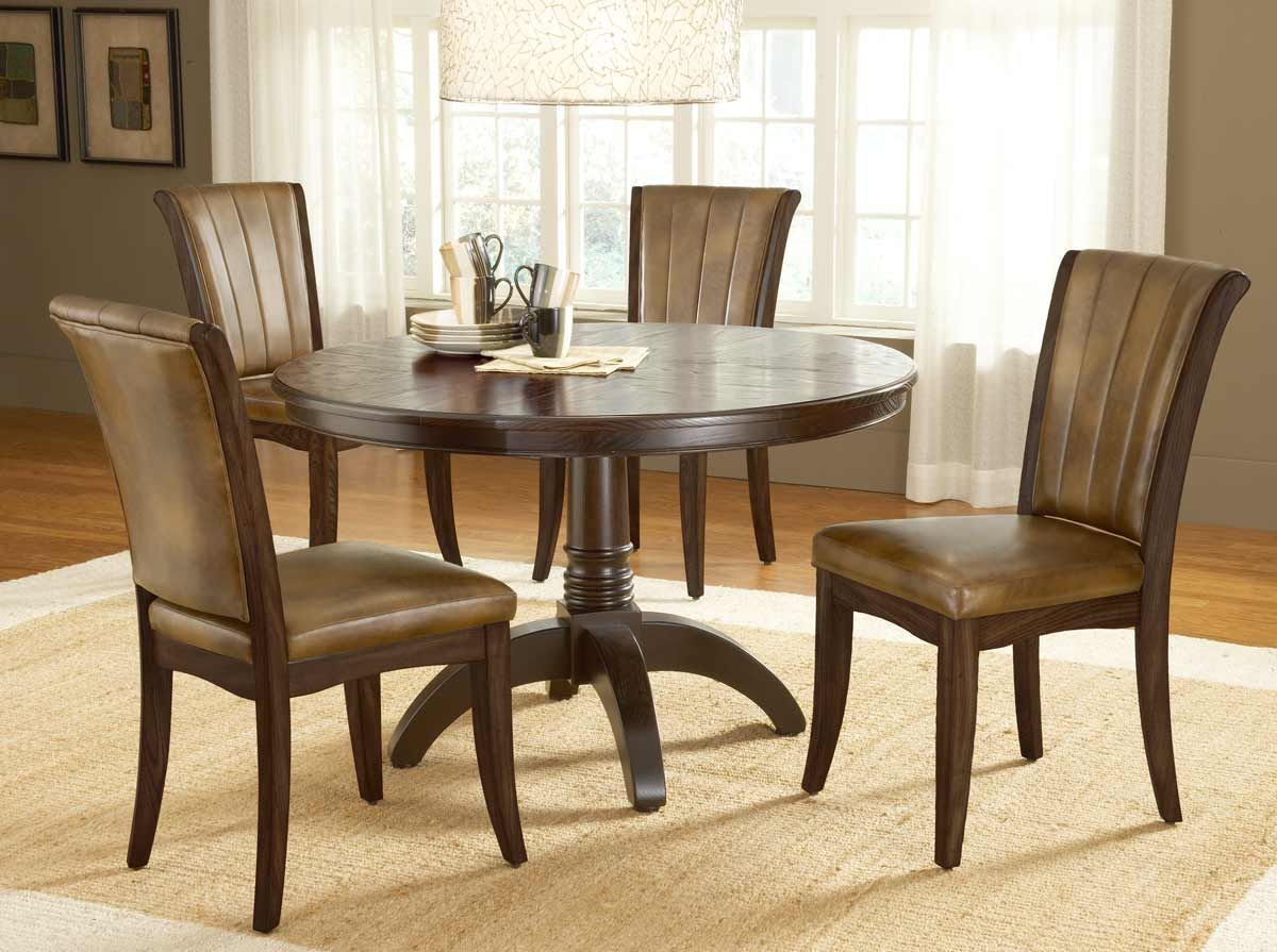 Hillsdale Grand Bay Round Dining Set with Dining Chair - Cherry