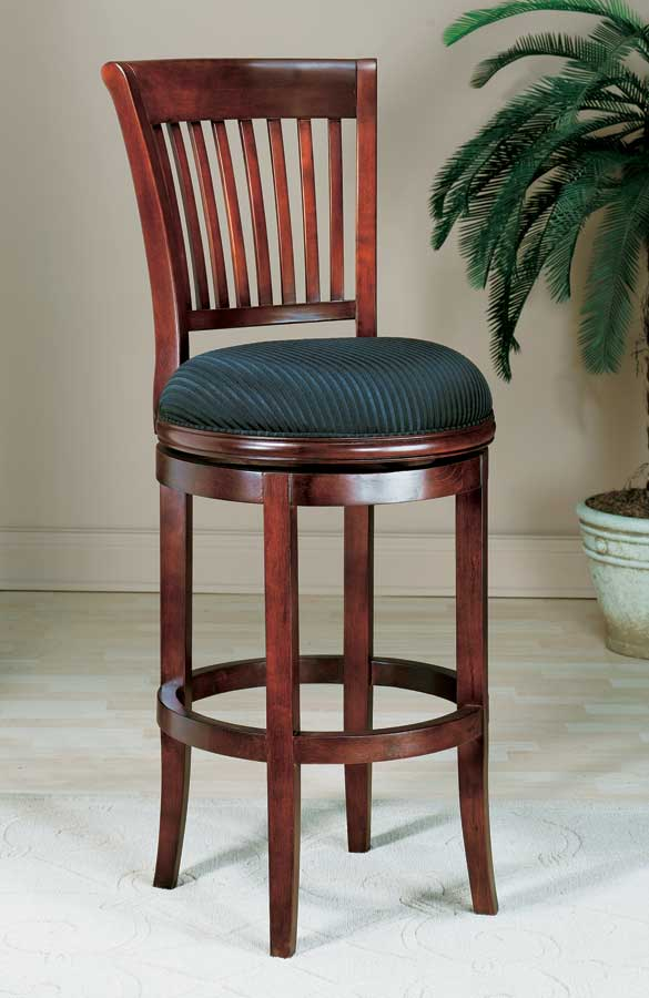 Oak View Swivel Wood Counter Stool with Back - Cherry - Hillsdale