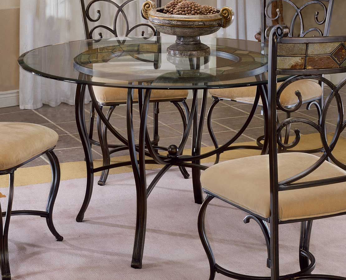 Hilale Pompei Metal Dining Table With Slate Top