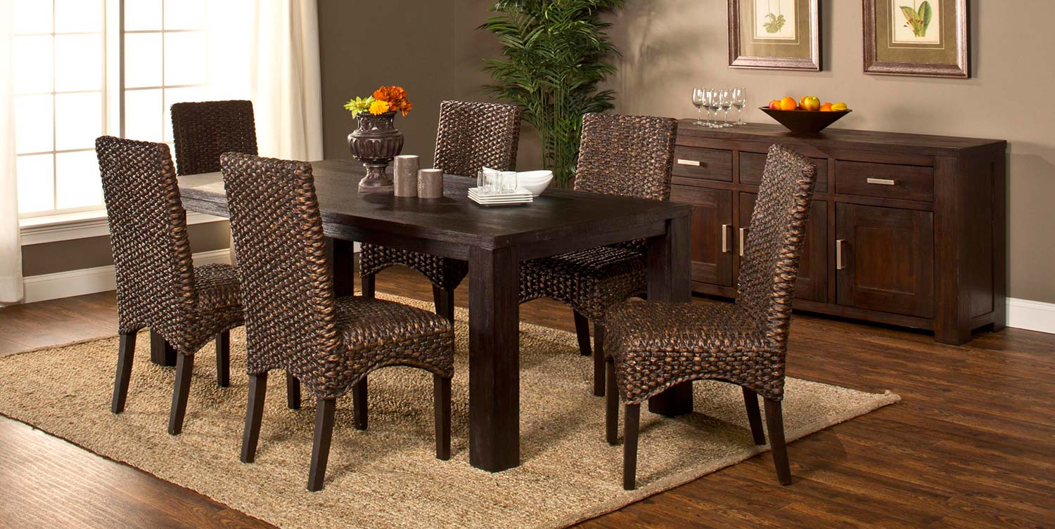 Hillsdale Simply Sydney 7-Piece Dining Set - Smoke Brown