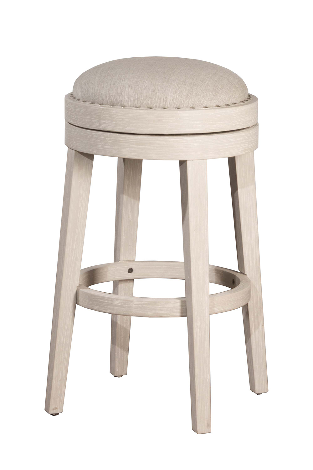 Hillsdale Carlito Backless Swivel Counter Stool White Hd