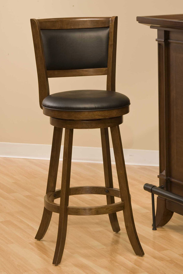 Hillsdale Dennery Swivel Counter Stool - Cherry
