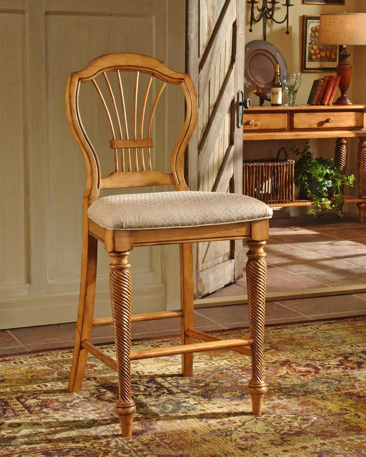 Hillsdale Wilshire Non-swivel Counter Stool - Antique Pine