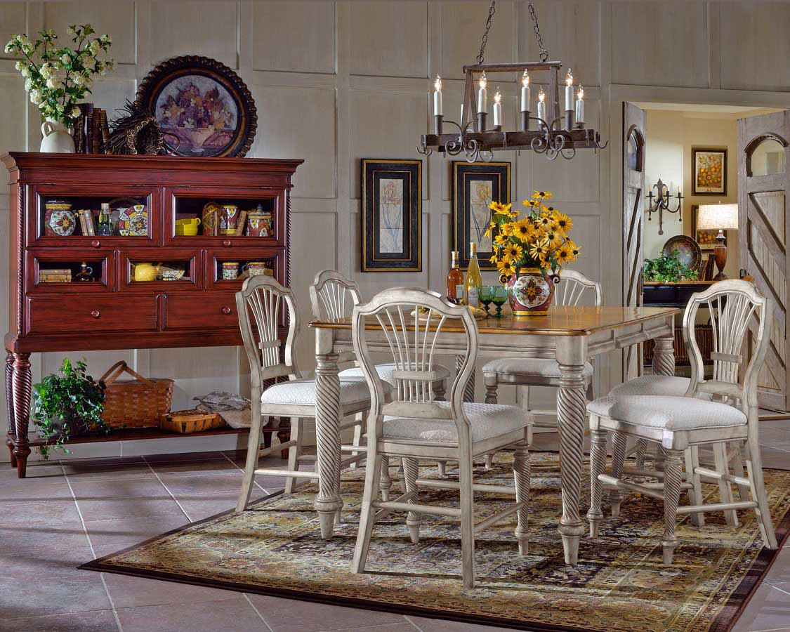 Hillsdale Wilshire Counter Height Dining Collection - Antique White