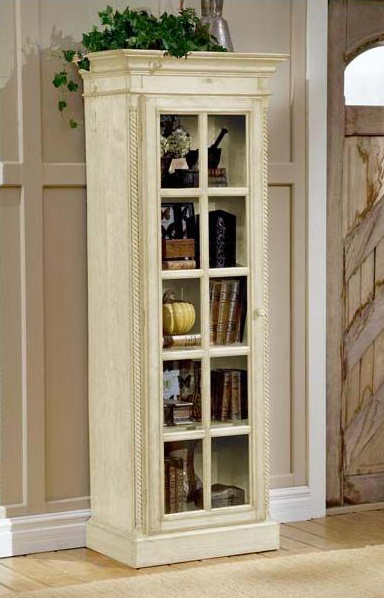 Wilshire Small Library Cabinet - Antique White - Hillsdale