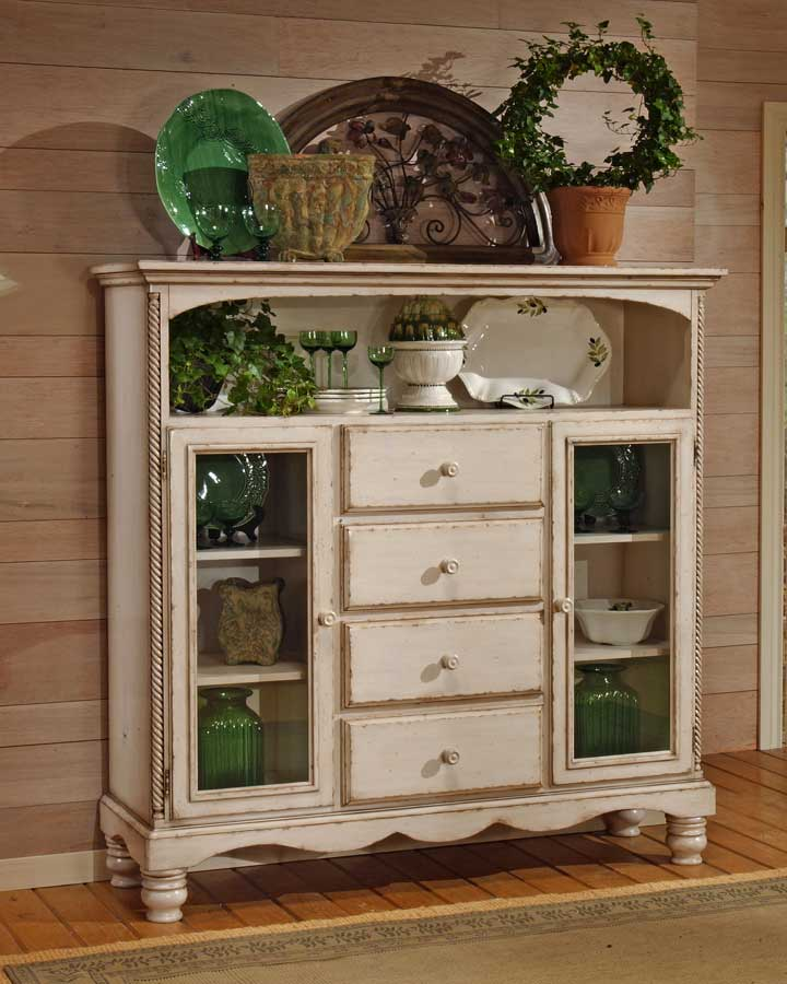 Hillsdale Wilshire Four Drawer Bakers Cabinet - Antique White