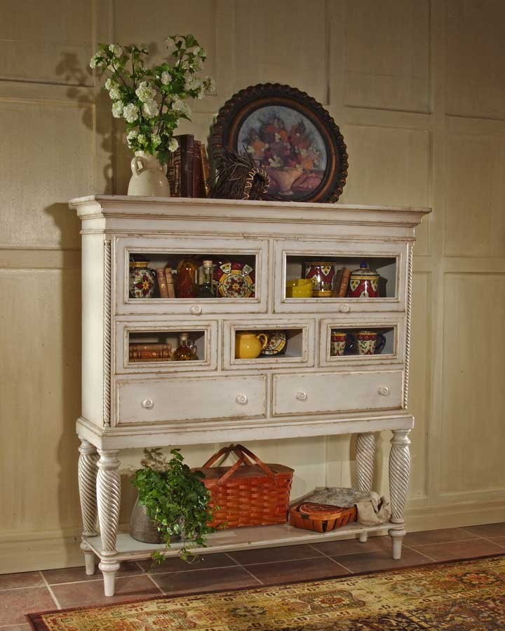 Cheap Hillsdale Furniture Wilshire Sideboard Cabinet – Antique White