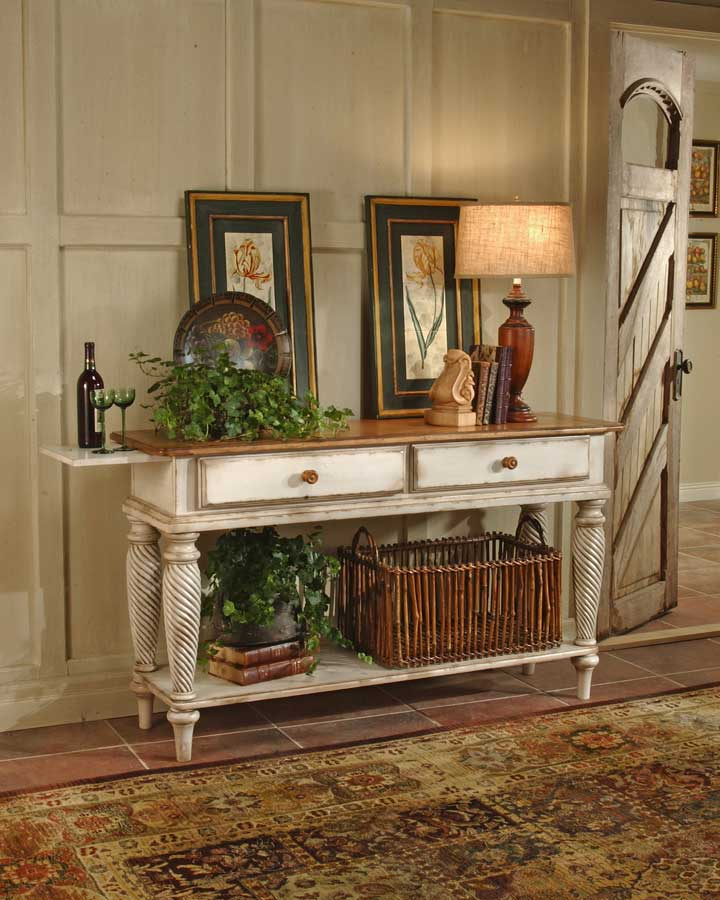 Hillsdale Wilshire Round Dining Collection - Antique White HD ...