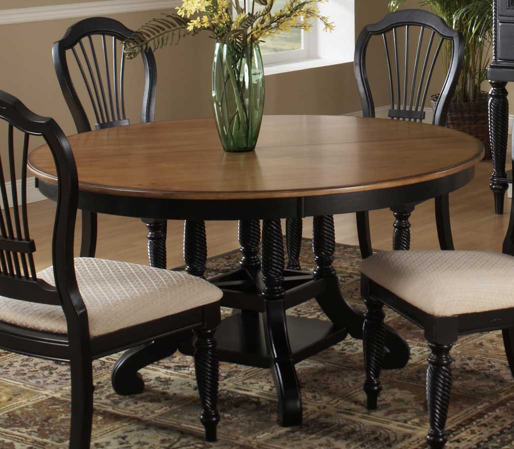 Cheap Hillsdale Furniture Wilshire Round Oval Dining Table – Rubbed Black