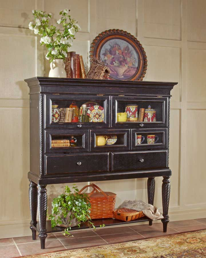 Cheap Hillsdale Furniture Wilshire Sideboard Cabinet – Rubbed Black
