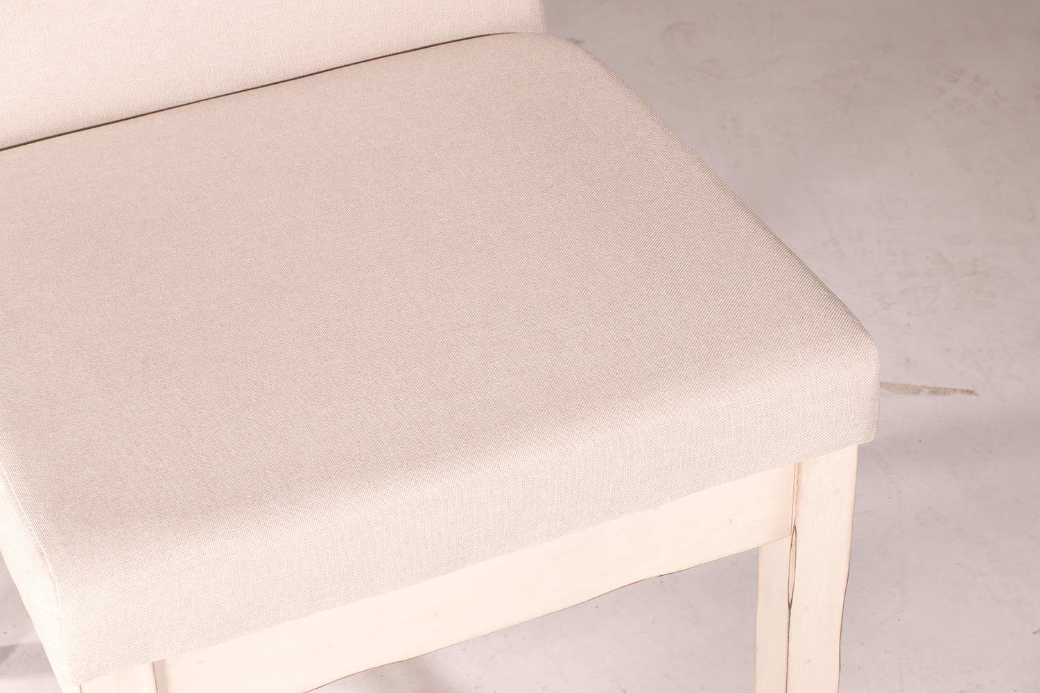 Hillsdale Clarion Dining Chair - Sea White - Fog Fabric