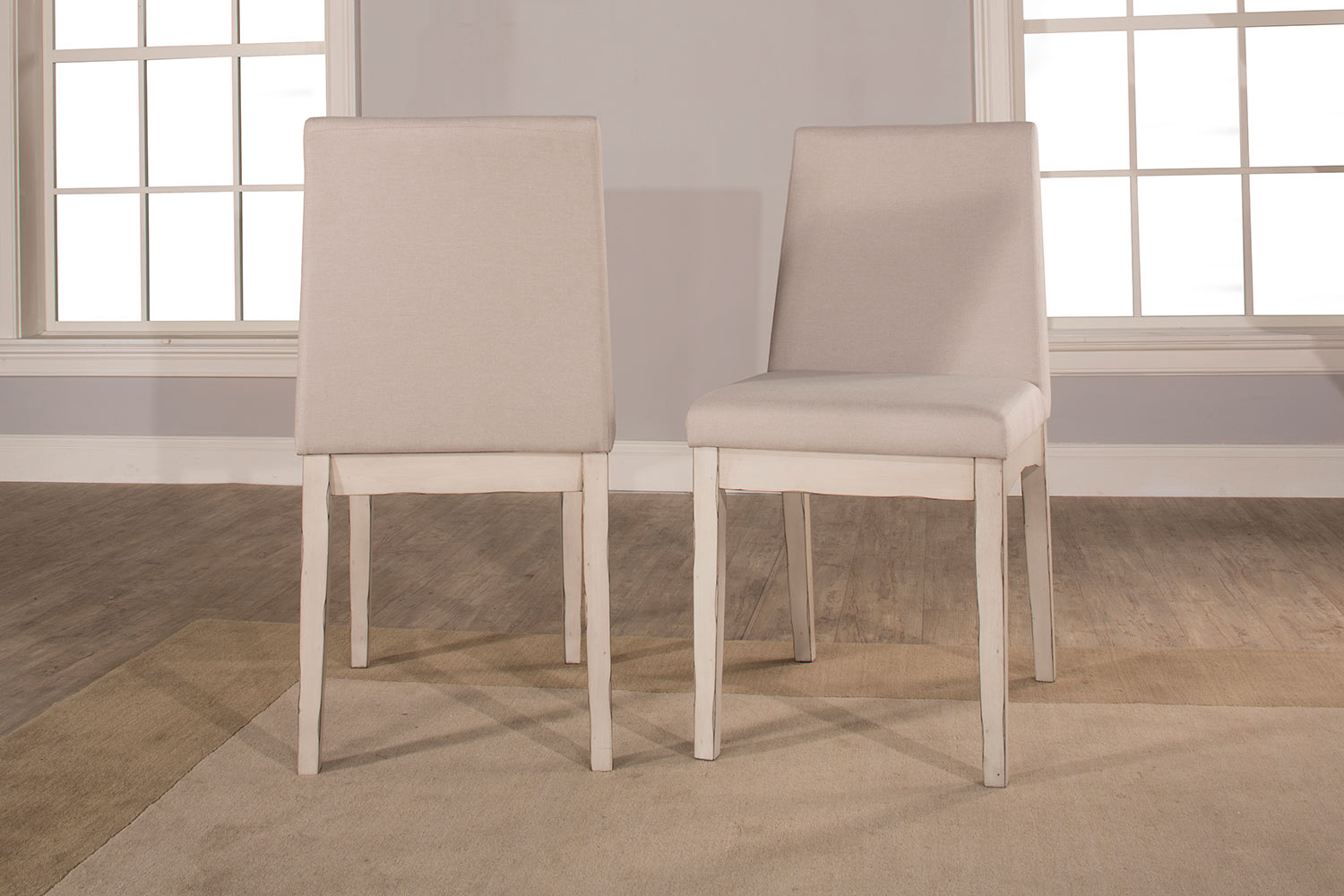 Hillsdale Clarion Upholstered Dining Chair - Sea White - Fog Fabric