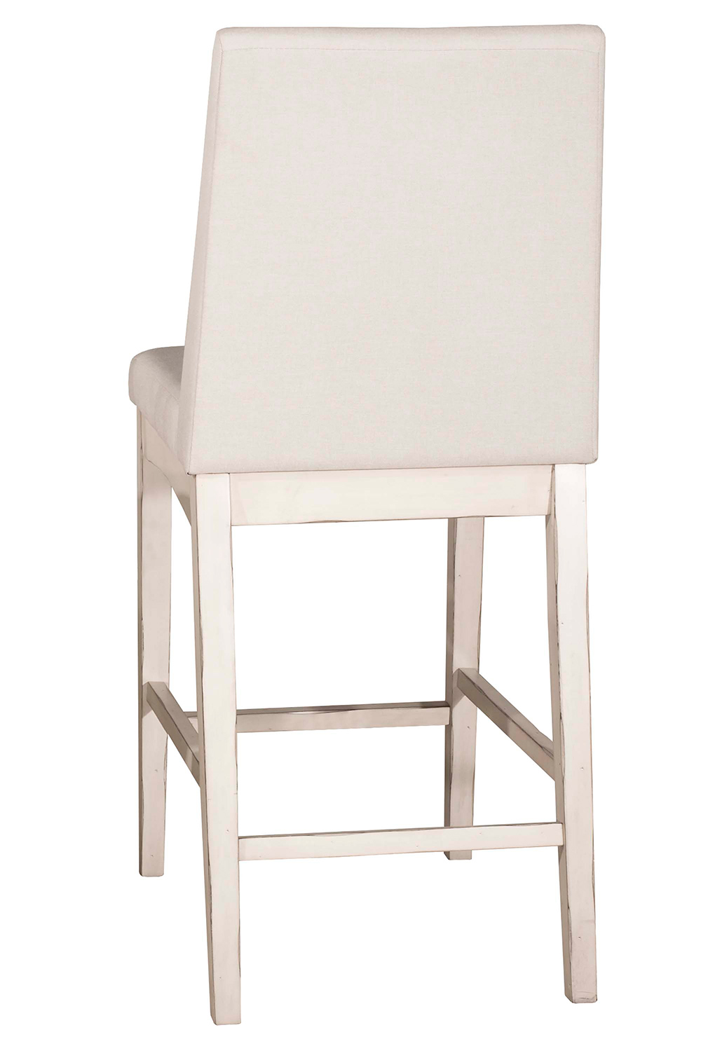 Hillsdale Clarion Non-Swivel Counter Height Stool - Sea White - Fog Fabric