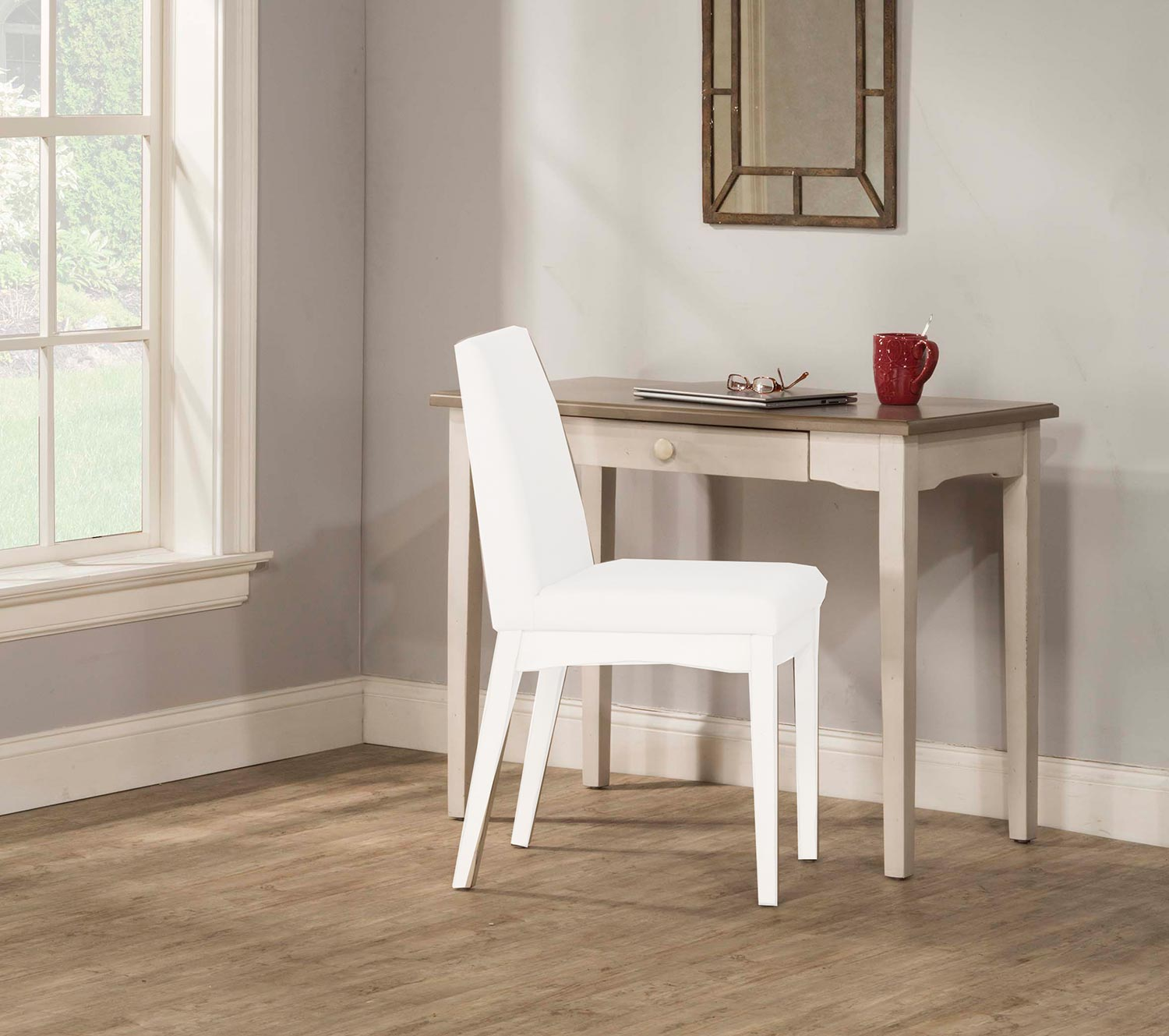 Hillsdale Clarion Desk/Table - Gray/White