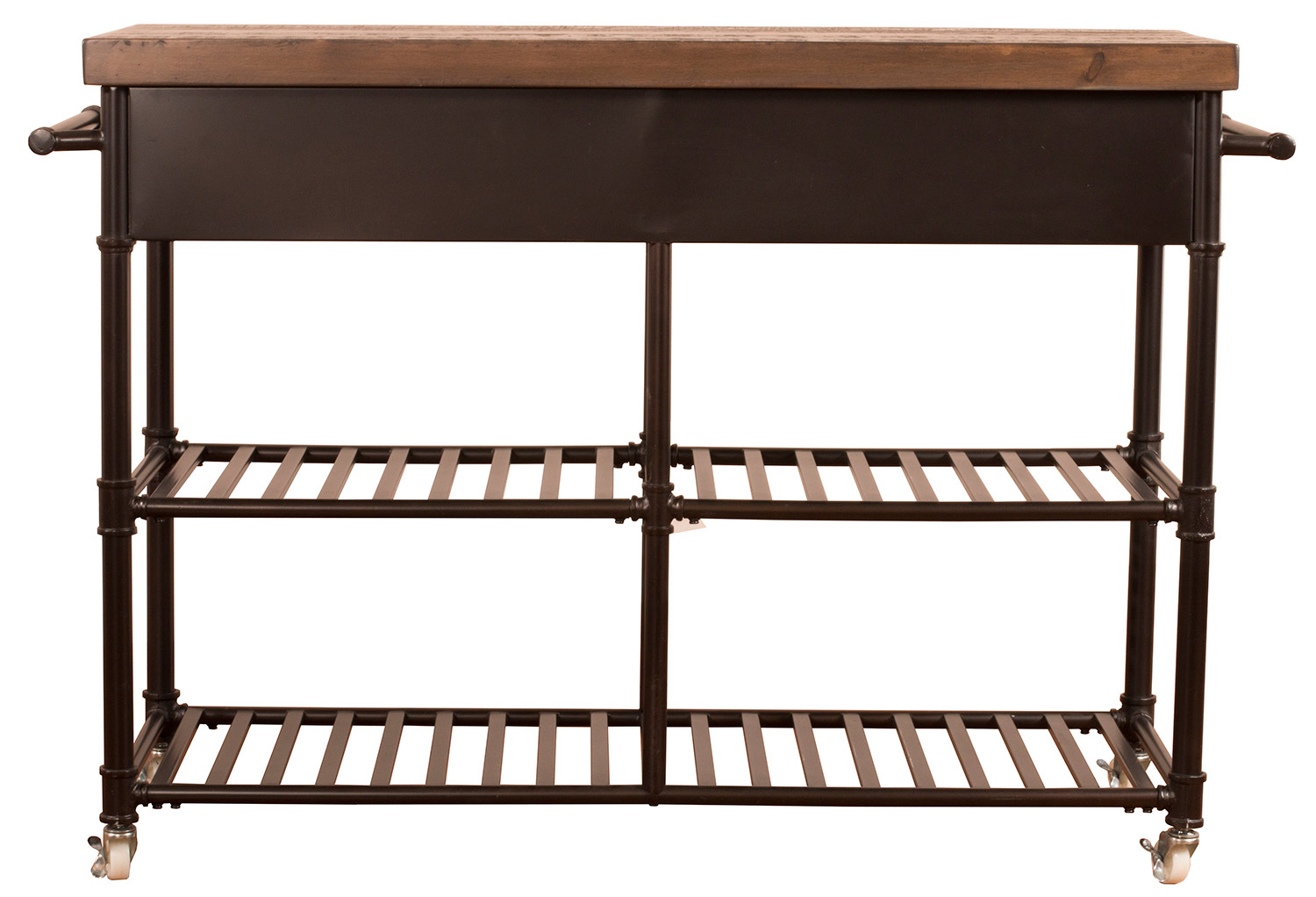 Hillsdale Casselberry Kitchen Cart - Brown/Distressed Walnut