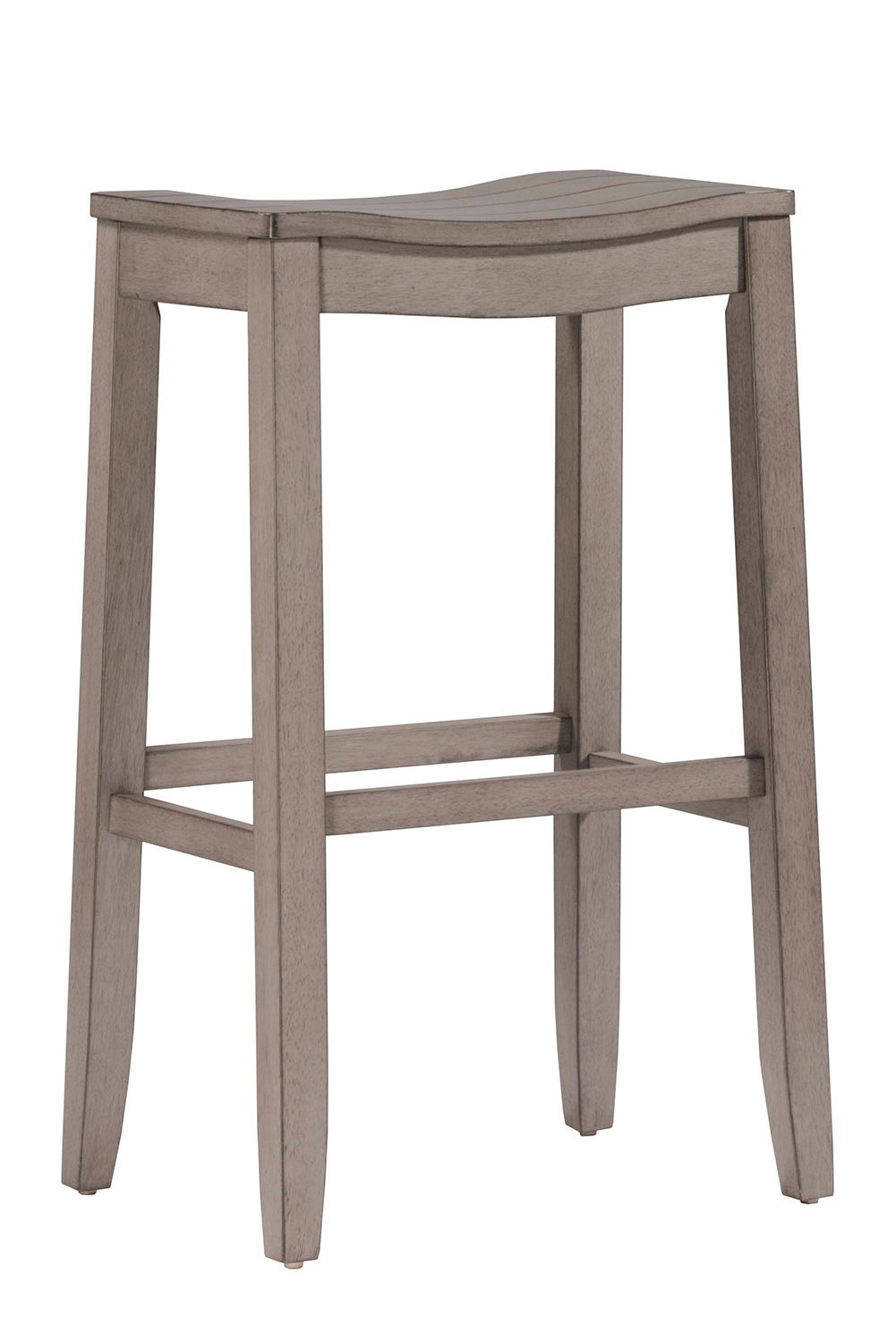 Hilale Fiddler Non Swivel Backless Counter Stool Aged Gray