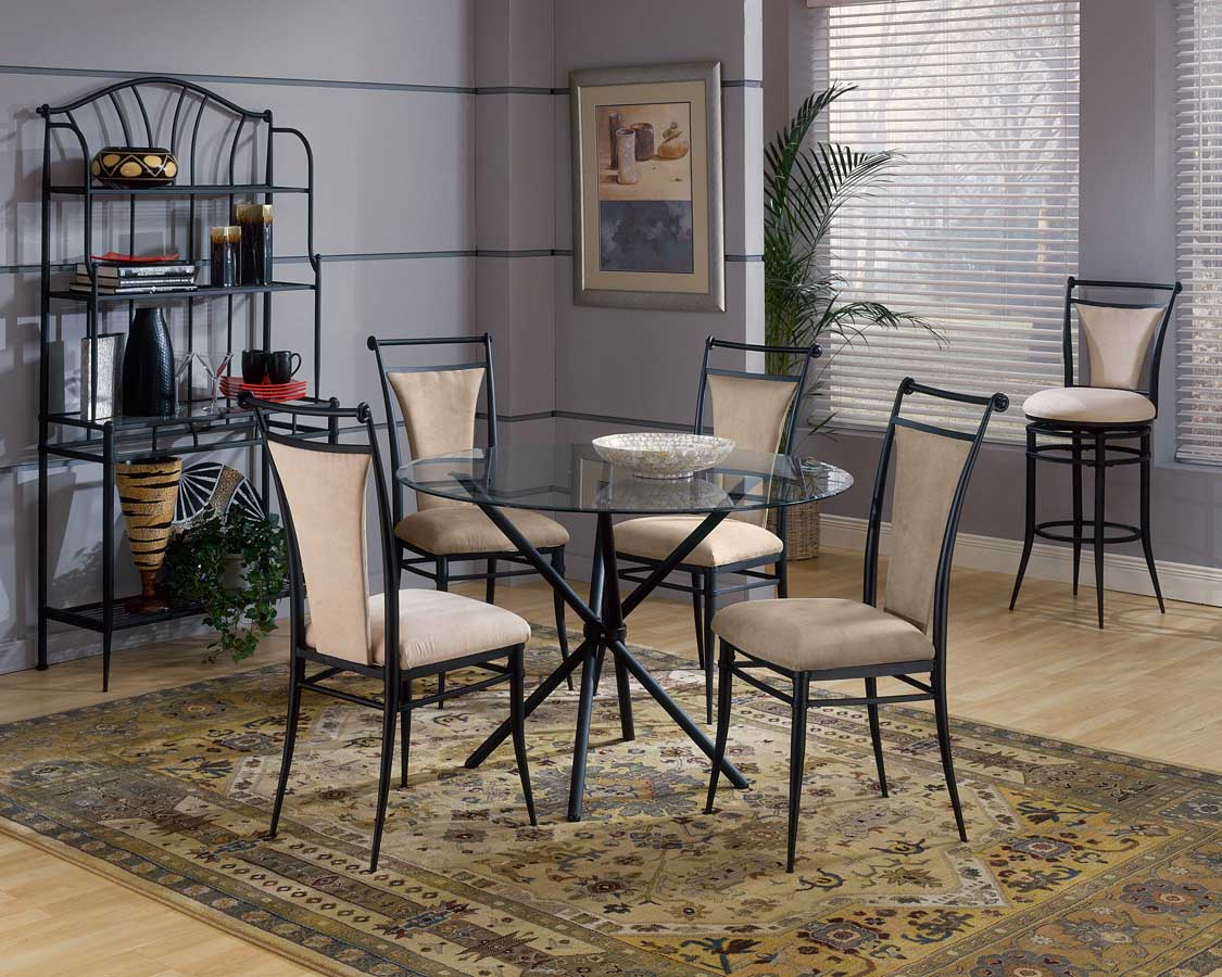Hillsdale Cierra Round Dining Collection - Fawn
