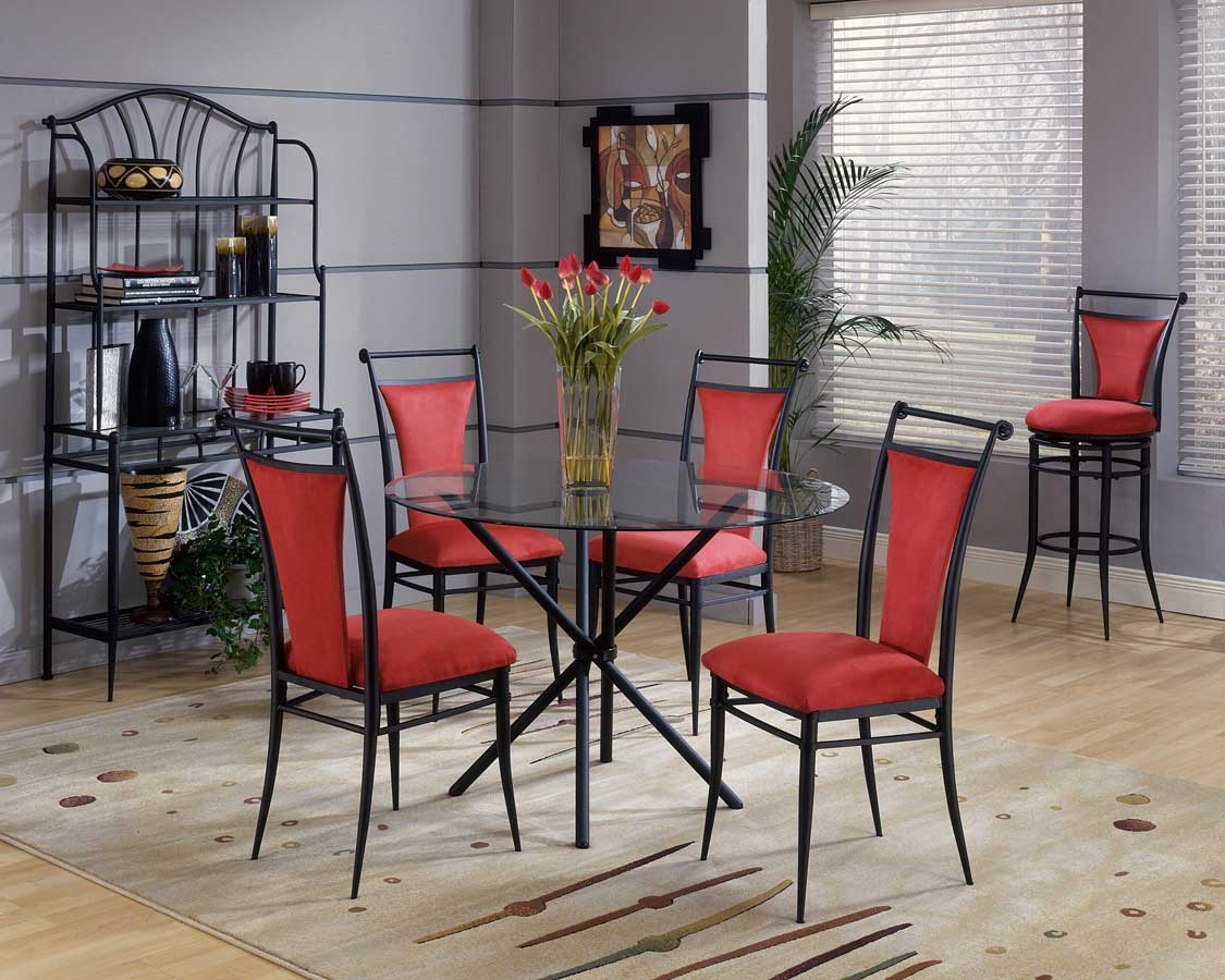 Hillsdale Cierra Round Dining Collection - Flame