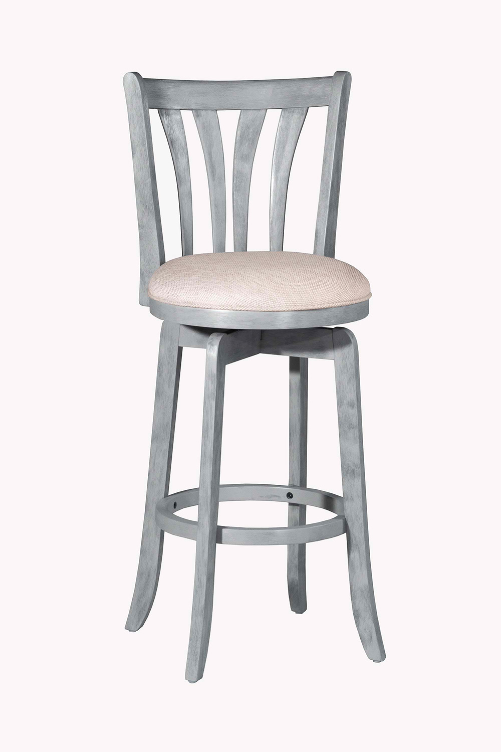 Hillsdale Savana Swivel Bar Stool - Blue Wirebrush - Cream Fabric