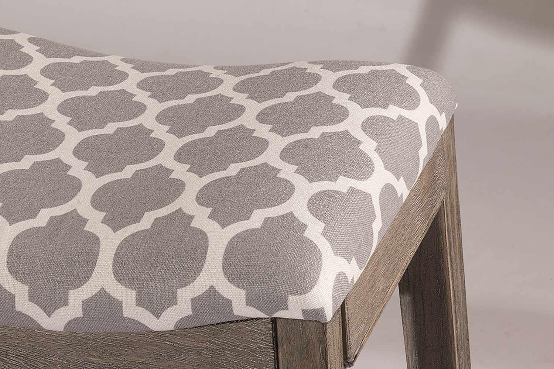 Hillsdale Sorella Non-Swivel Bar Stool - Gray - Trellis Gray Fabric