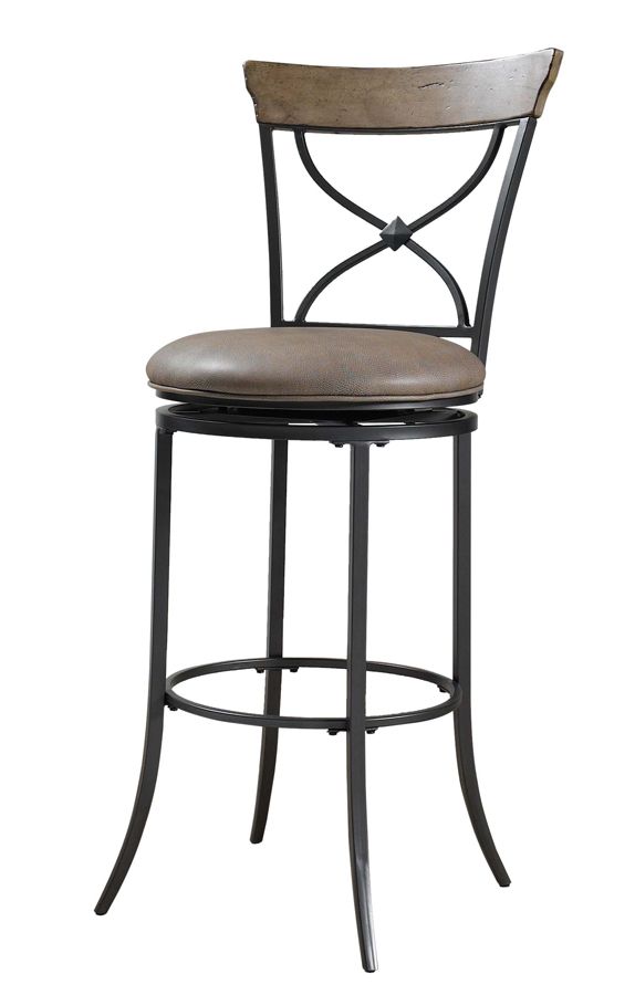 Hillsdale Charleston X-Back Swivel Counter Stool