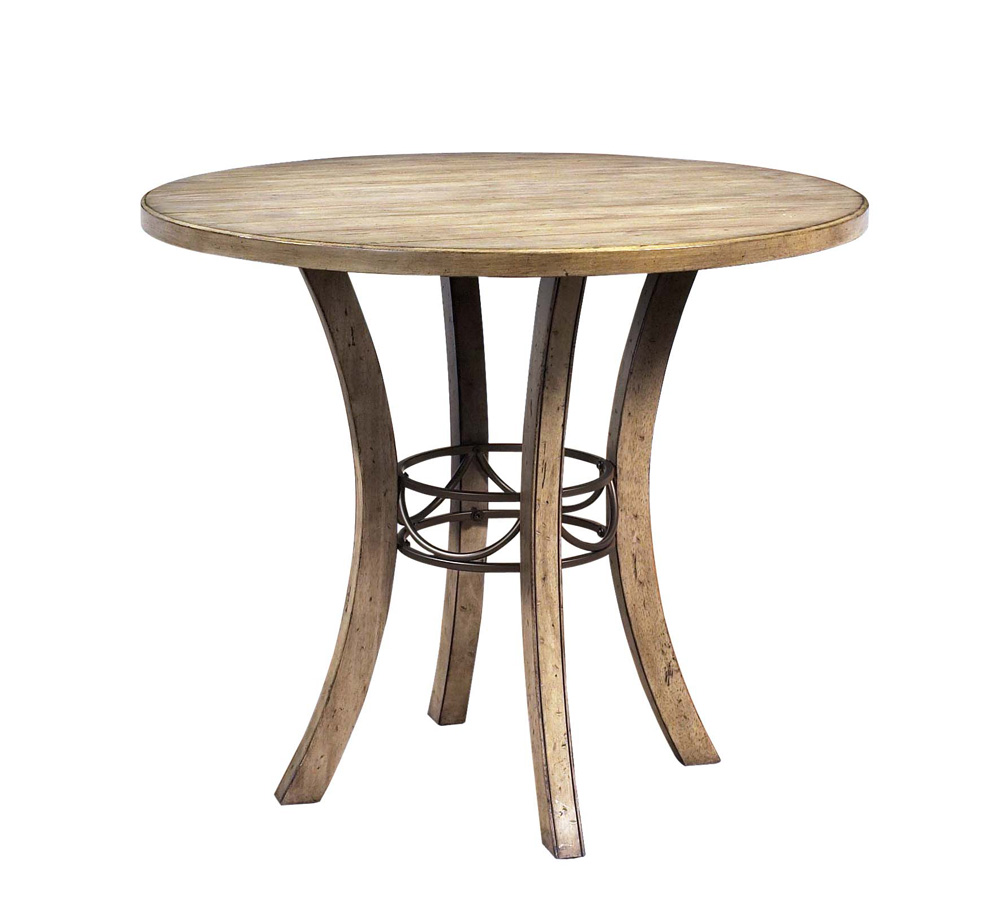 Hillsdale Charleston Round Counter Height Dining Set With X-Back Stool